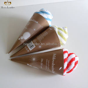High absorption multifunctional color stripe printed microfiber cake towel
