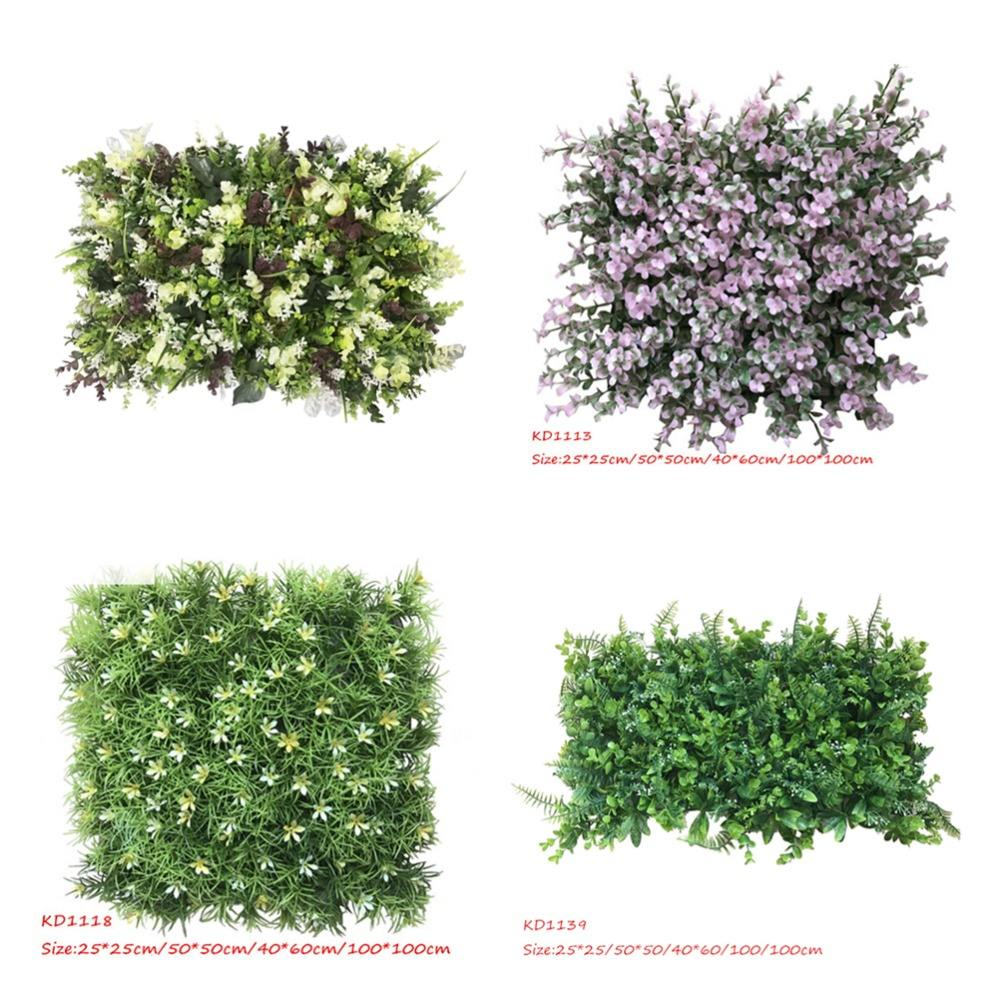 Garden hedge artificial vertical wall grass