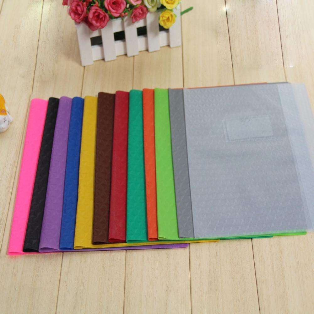 Popular pvc A4 A5 size diamond pattern book cover professional cheap waterproof book cover hard plastic book cover