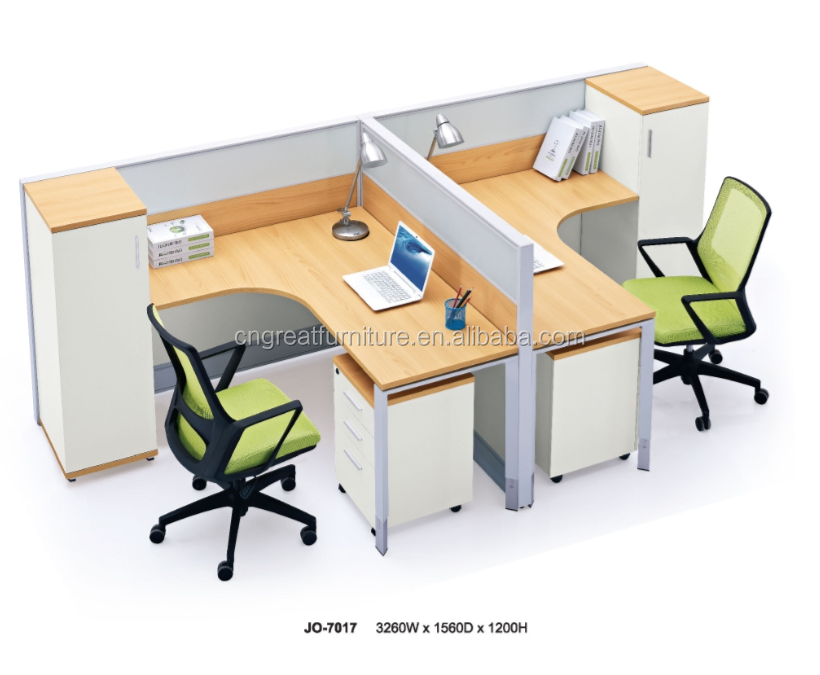 Office workstation with partition Latest Modern office desk furniture