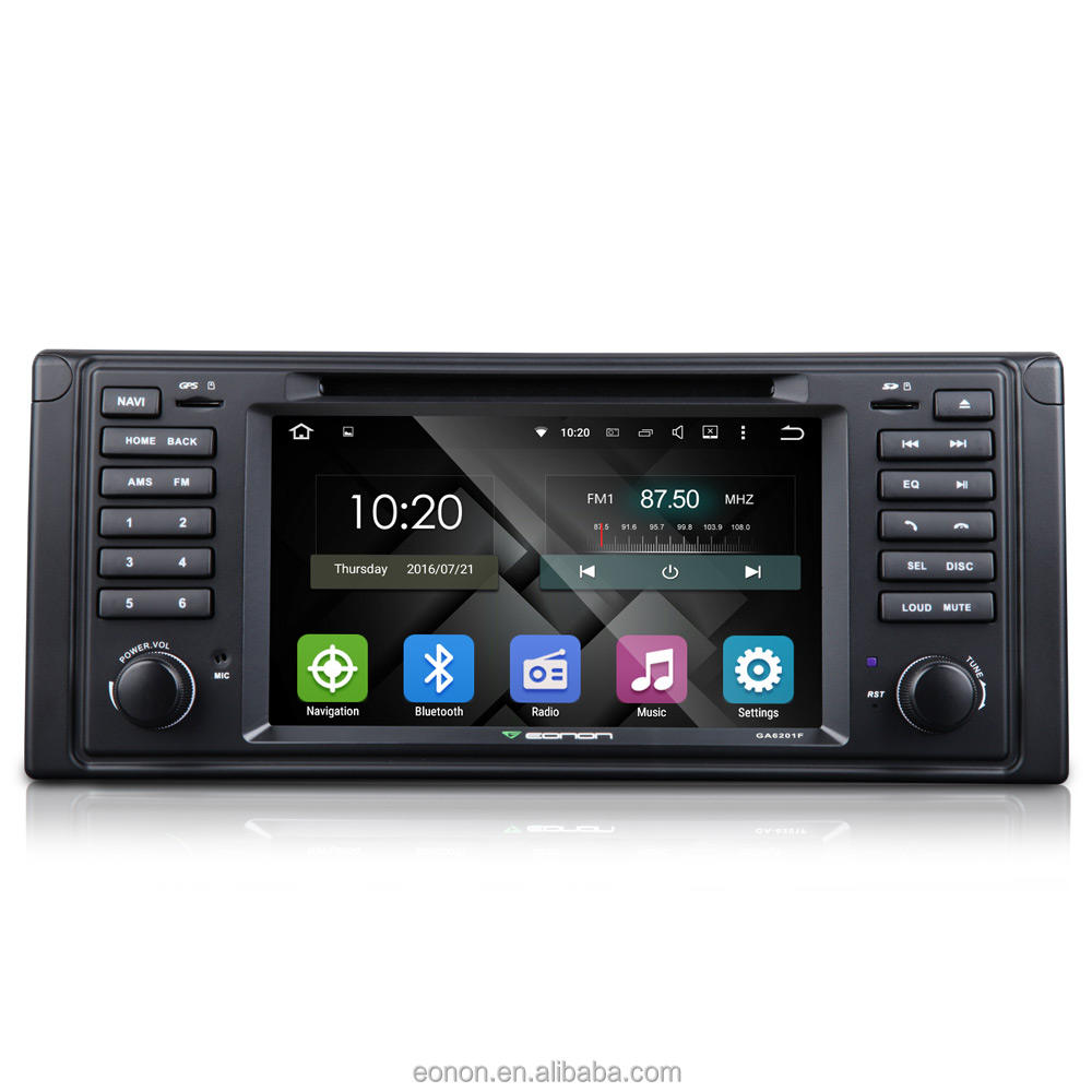 Eonon GA6201F per E39 Android 5.1.1 Lollipop Quad-Core da 7 pollice Multimedia Dell'automobile DVD GPS con Controllo Reciproco EasyConnection