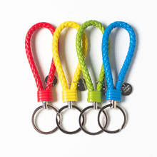 Jewelry accessories wholesaleColorful Braided Rope Keychain  Car Key ring DIY bag Pendant accessories