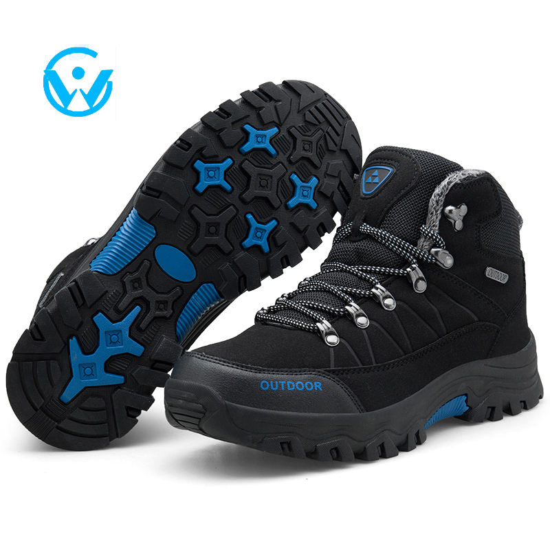 Men Leather Hiking Shoes Male Vitality Breathable Sport Mountaineering Shoes Men Comfortable Outdoors Lace-Up Gym