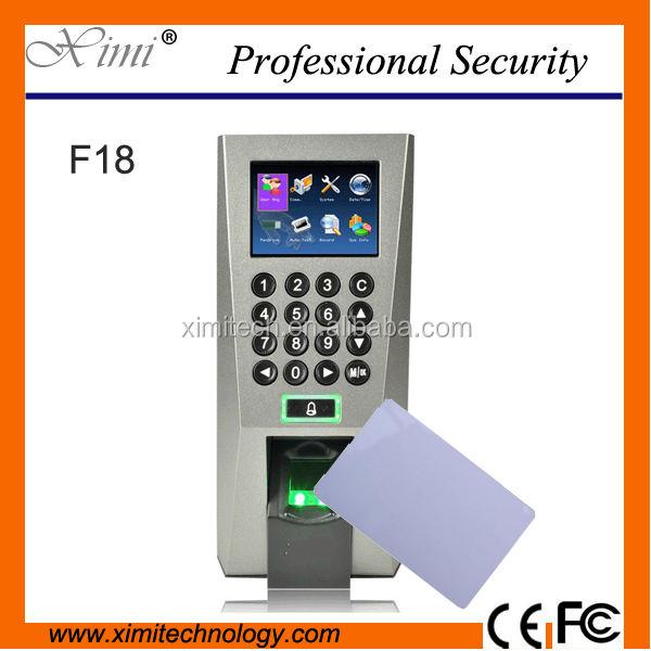 Отпечатков пальцев и Ми-тариф карты система контроля доступа посещаемость времени F18 TCP/IP контроллер доступа