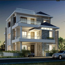 Three floors light steel house villa with multi rooms suitable for big family