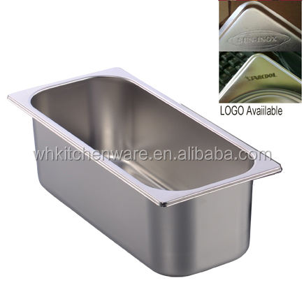 3L/5L/7L/15L Stainless Steel Pan, ice cream container for Italy Gelato Display freezer