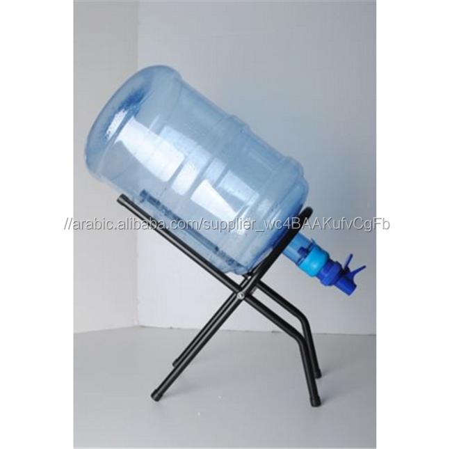 معدنية سوداء حامل مهدا 5 غالون زجاجة مياه الحنفية المسمار الوقوف