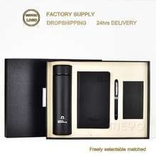 Custom logo corporate promotional office gift items vacuum mug notebook pen power bank corporate gifts set premium