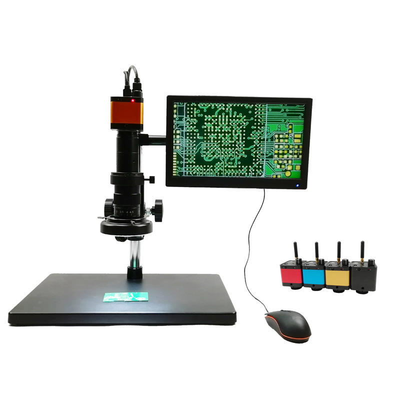 Cheap Electron Microscope 14MP + 11.6 Inch LCD Digital Video Microscope Industrial Camera Kit VMS14M33-MW+B116-HD