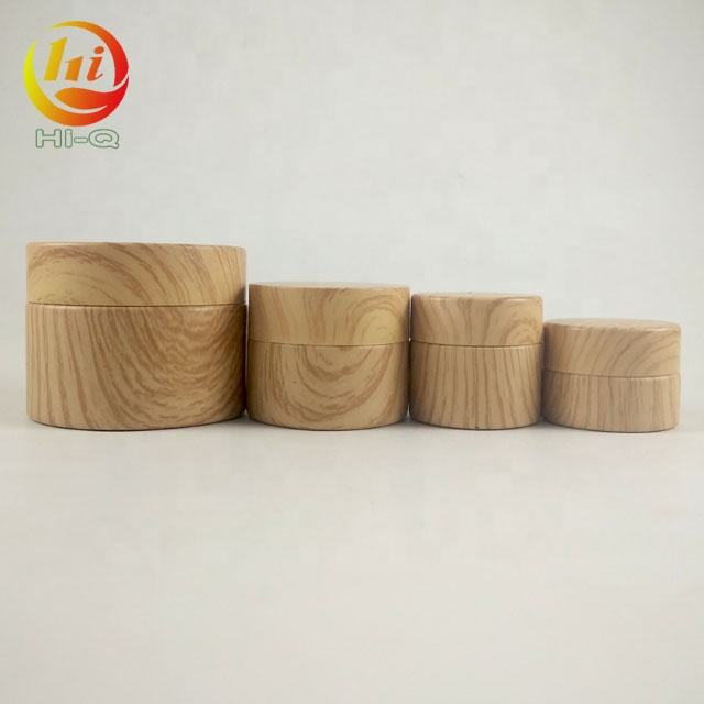 hot product eye face body cream skin care round container 5g 20g 50g bamboo color glass jar with wood lid
