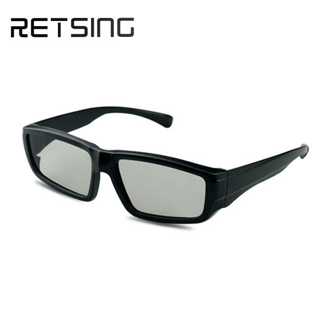 Plastic Circular Polarized 3D Glasses 3D Paper Anaglyph Glasses