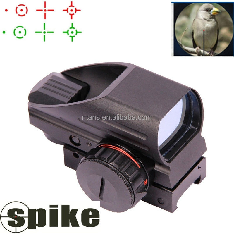 Spike Holografische Laser Sight Scope Reflex 4 Rood Groen Dot Richtkruis Rail