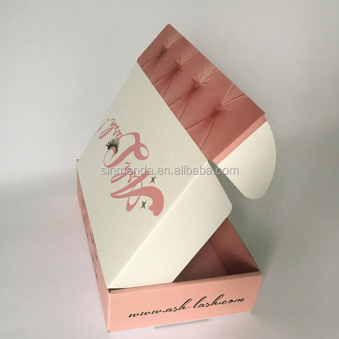 OEM ODM printing color corrugated cardboard die cutting subscription box for cosmetic shipping