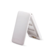 White color plastic container empty compact face powder case