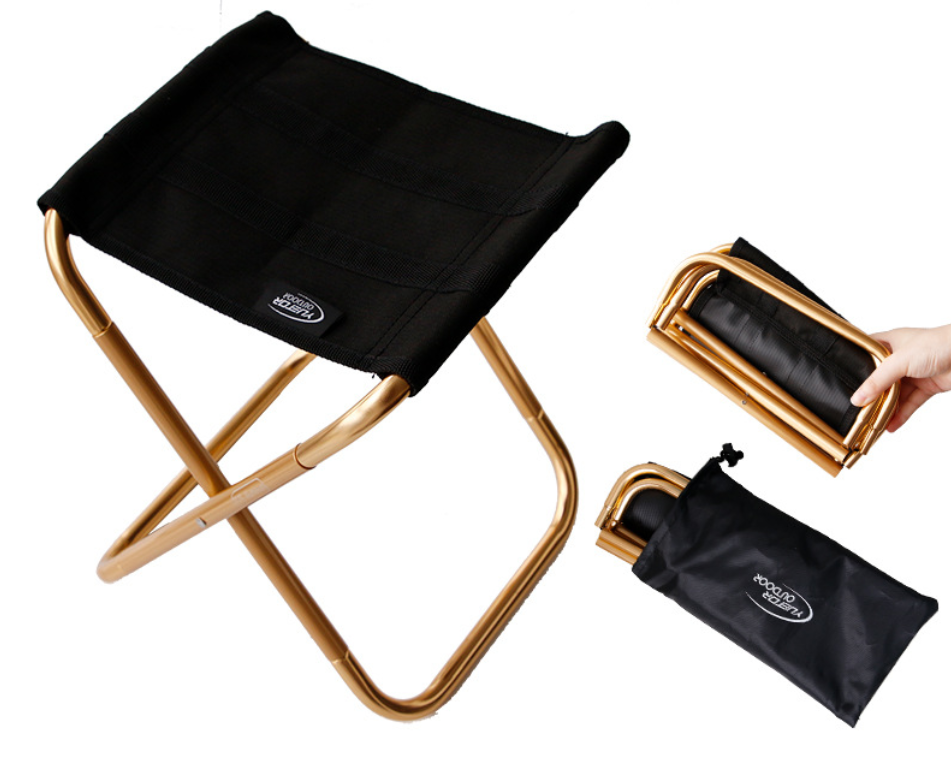 Aluminum alloy lightweight Outdoor foldable mini portable camping chair