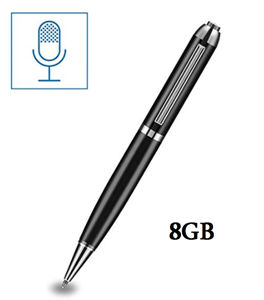 Audio Opname Pen Digitale Voice Recorder Pen MP3 Speler Stereo Dictafoon 8 gb