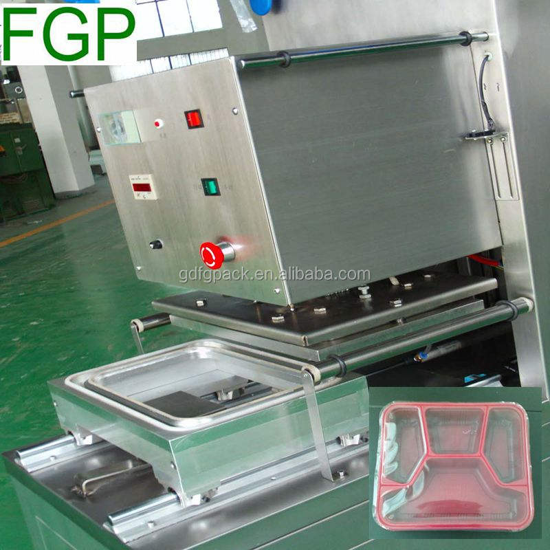Table top stainless steel semi automatic sandwich tray sealing machine/sealer machine in China