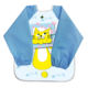 Lovely Long Sleeve Polyester Baby Bib Plastic Back, Waterproof Baby Bib