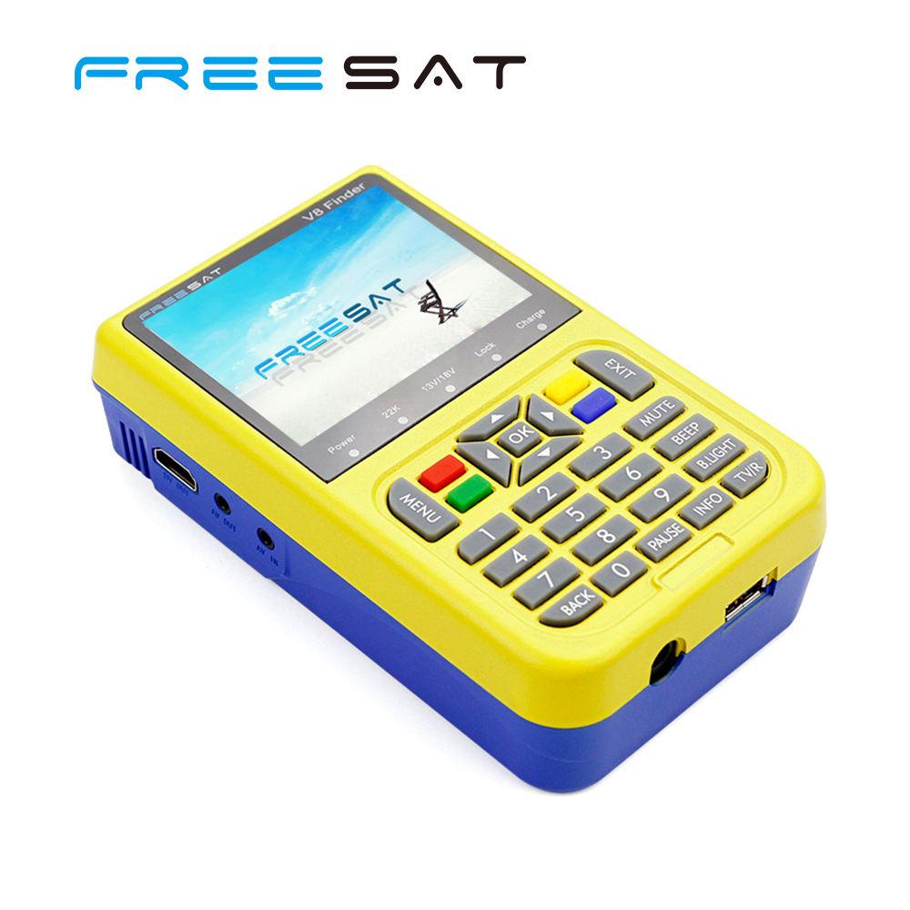 Melhores Preços Freesat 3.5 polegada Tela LCD a <span class=keywords><strong>Cores</strong></span> V8 DVB-S2 Localizador Via Satélite