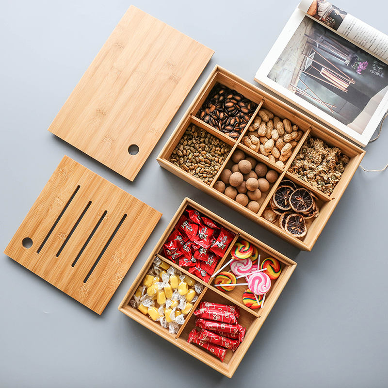 new design bamboo storage box wooden dry fruit box