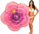 2018 new design pink flower inflatable pool float / giant inflatable swimming float