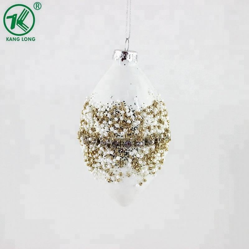 Hanging Decoration Metal Cap Christmas Glass Ball ornaments