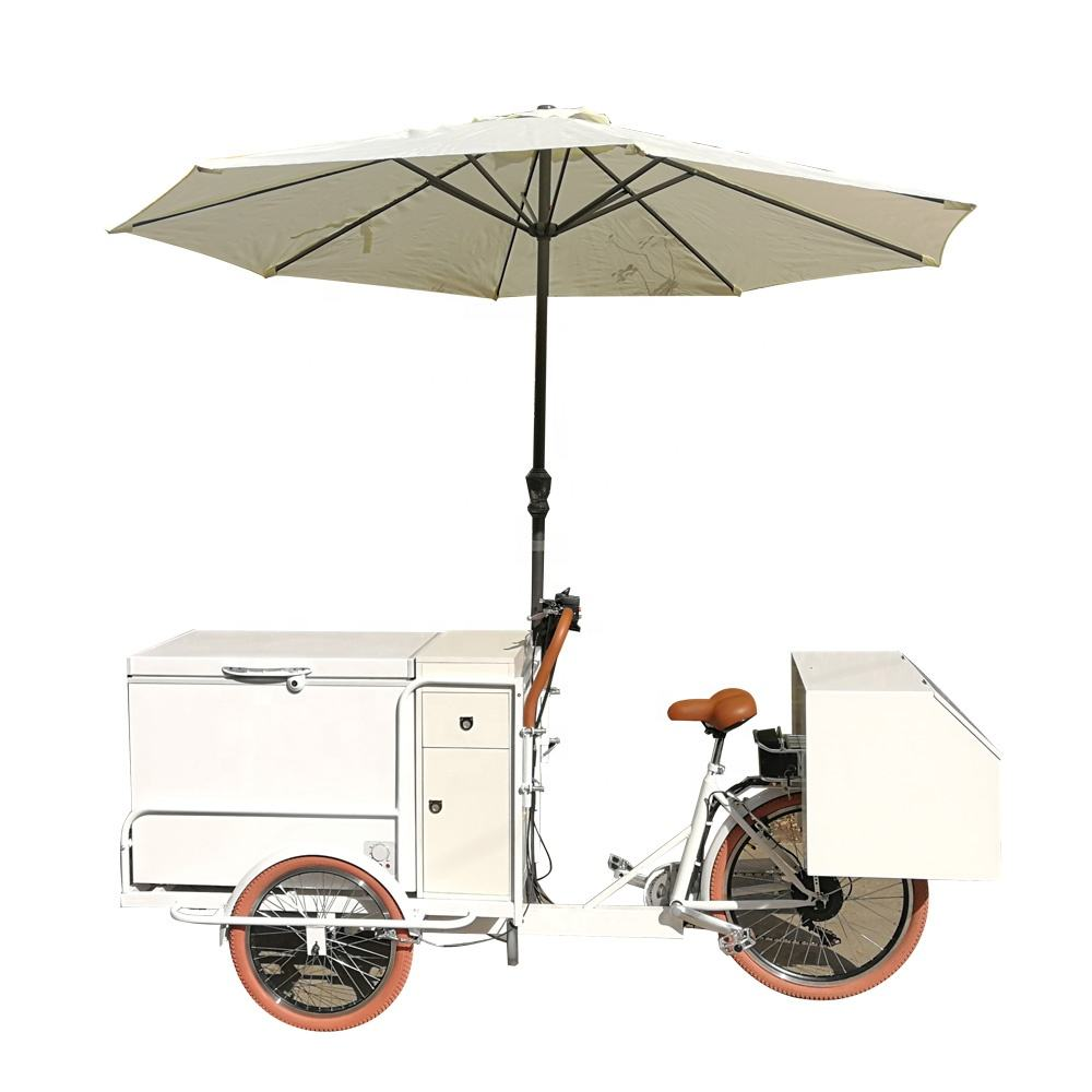 Factory Direct Hot Sale Mobile Food Carts electric Coffee Bike with CE
