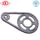 Direct manufacture chain sprocket gear set for motorcycle