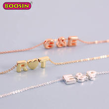 High quality fashion factory wholesale zinc alloy slide alphabet charms letters initial