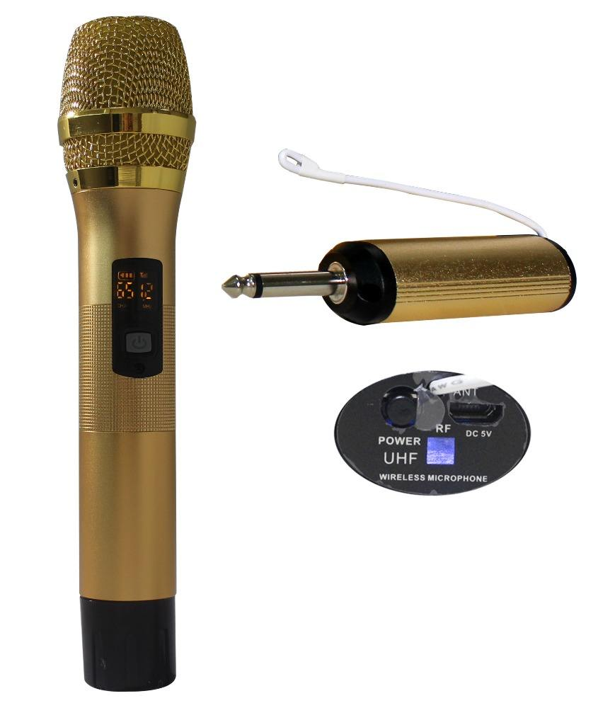 Professional UHF Portable Wireless Handheld Microphone From China Factory UHF Cheap USB Gold Microphones WMP-U30