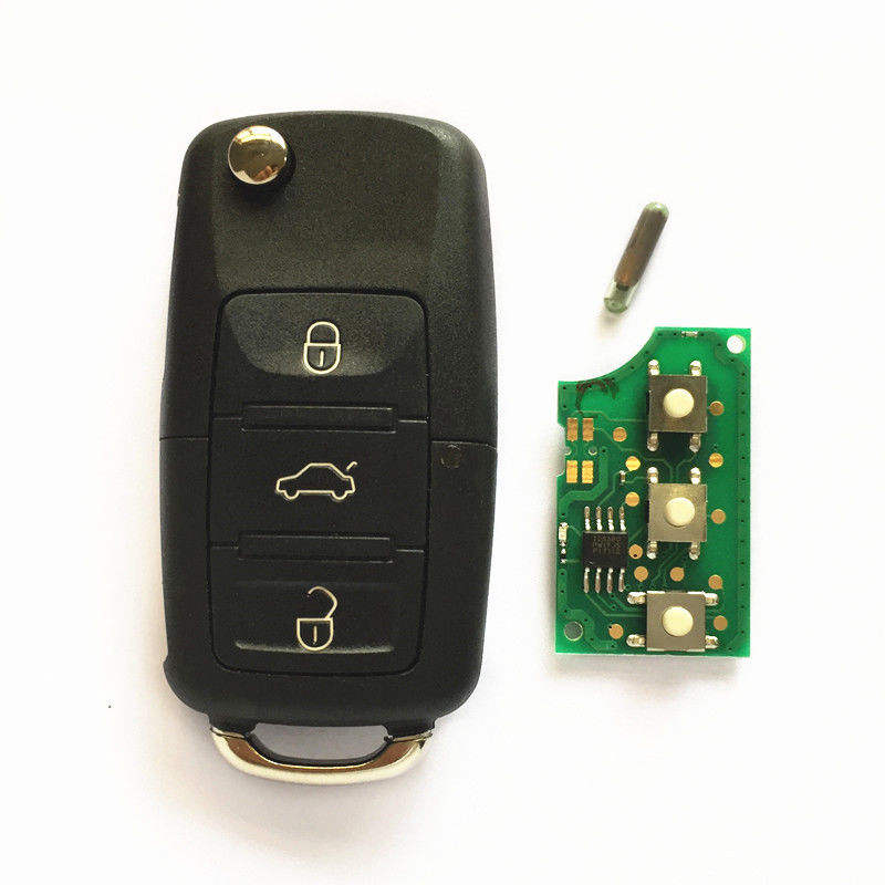 3 button Smart Keyless Entry Flip Remote Control Key Fob With 433Mhz key 1J0 959 753 AH For VW Skoda Jetta Golf Polo Passat