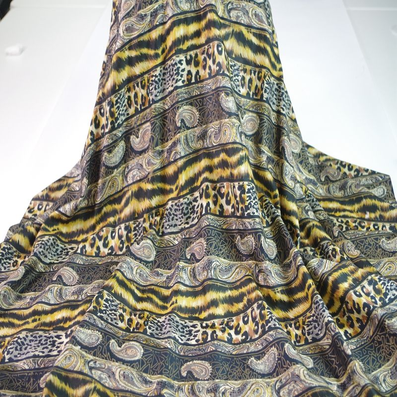 hot sale goods in stock digital printed habotai silk fabric for dresses