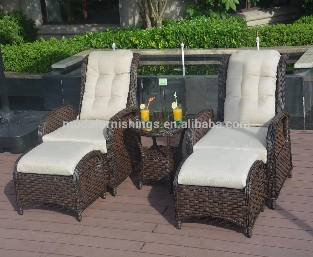 Rattan Wicker Cabana Lazy Recliner Sofa Chairs Chaise Lounge Outdoor Furniture