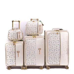 Guangzhou decent high quality colorful funky trolley suitcase luggage travelling for girls