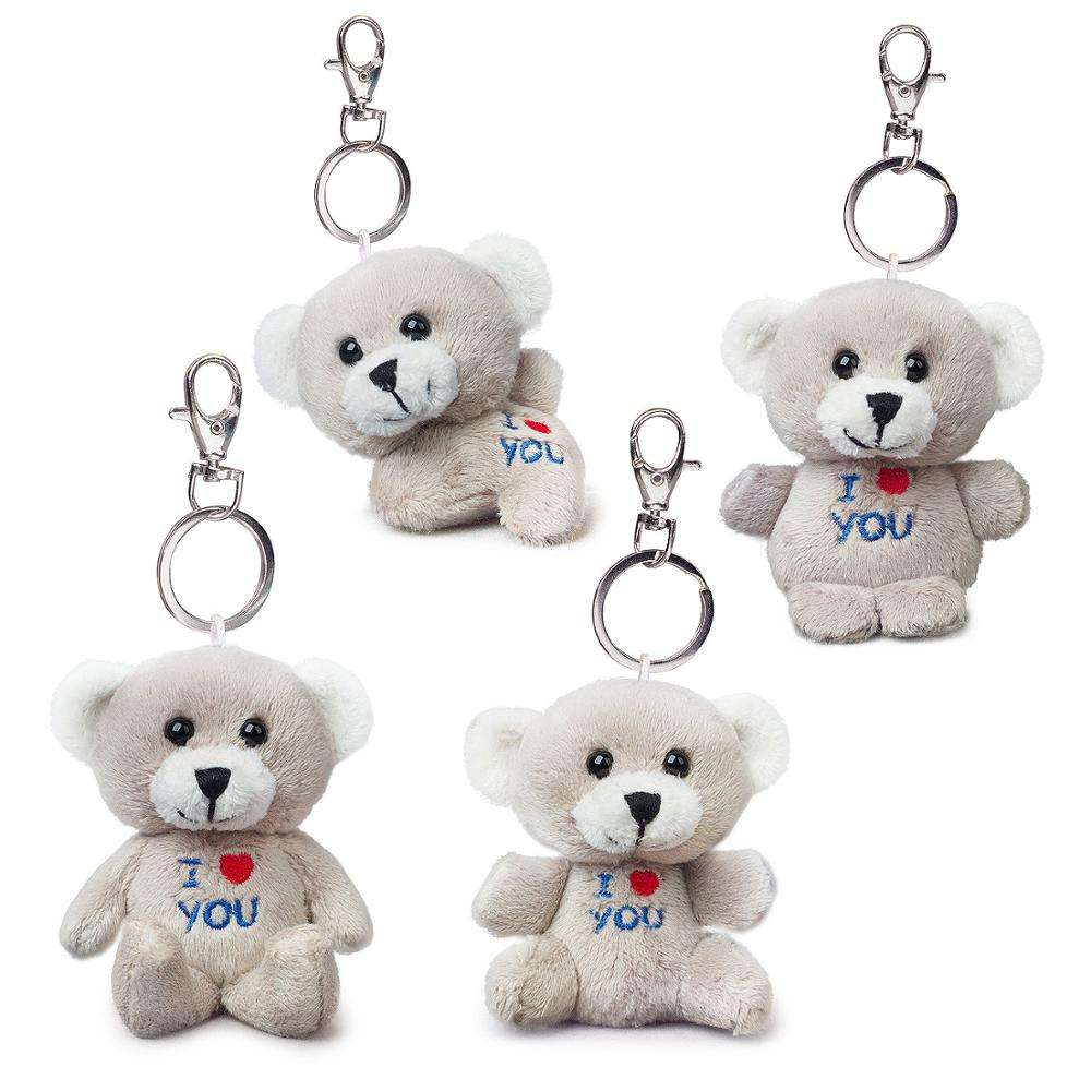 wholesale super soft OEM soft stuffed plush toy teddy bear keyring