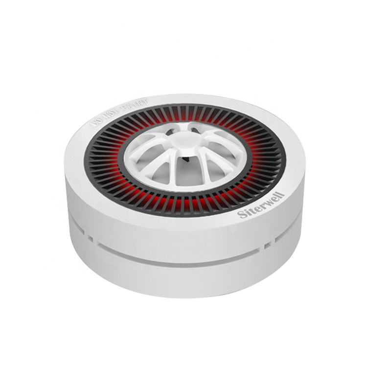 Manufacture INTERTEK Reddot design award ITS home office hotel photoelectric zigbe wifi 433mhz wireless smoke alarm detector