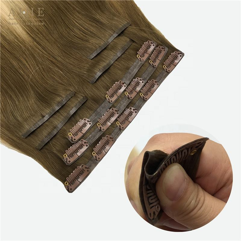 Walmart hot selling cheap blonde brazilian, balayage ombre straight, natural wavy remy 100% real human hair clip on extension