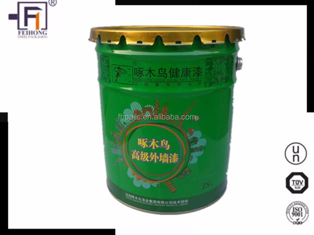 manufacturer customized conical anti-moisture 20Liter metal iron pail for coatings, paints,gasolines, chemicals,oils