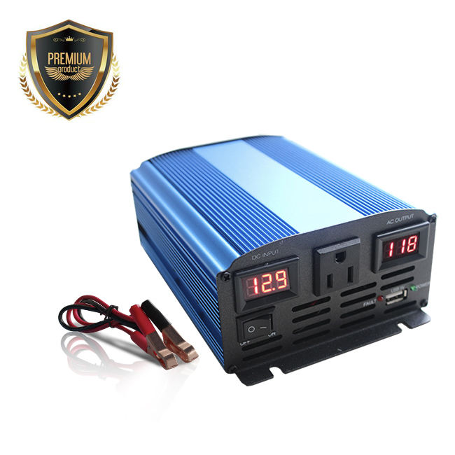 brand new dual LED screen US socket dc ac off grid Pure Sine Wave Power Inverter for 600w