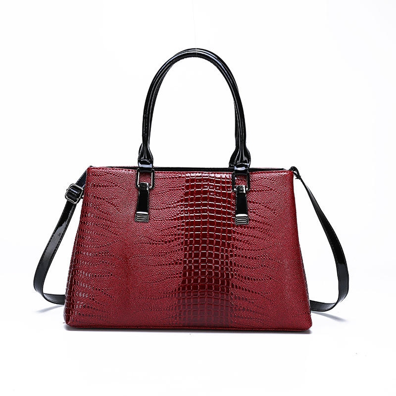 2019 new arrival fashion summer design portable handbag crocodile skin tote bag fashion women handbag shoulder bag