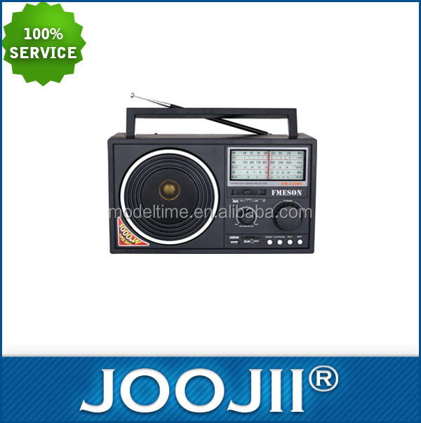Portable radio 3 Band fm/am/sw/tv usb/sd card mp3, reachargeable baterai