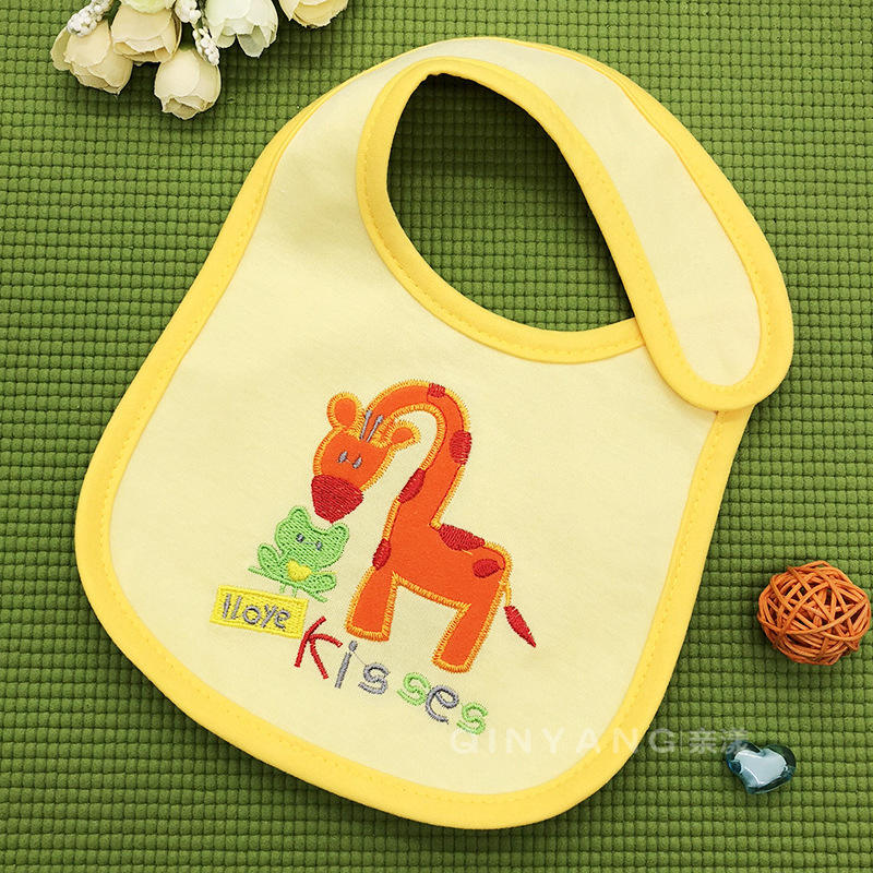 Embroidery Baby Burp Cloths Bibs Boys Towels Girls Pinafore 0-3years Newborn Feeding Bib Waterproof babet Scarf Cotton