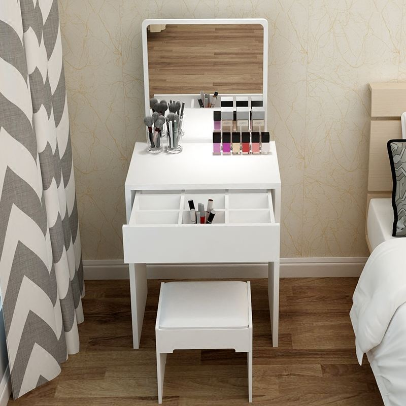 New design cheap wood melamine dressing table set with stool morden dresser