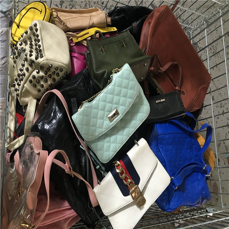 orignal and clean used lady handbags colorful used clothing and bags bales for Cameroon