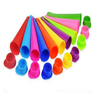 100% Food Grade BPA Gratis Silicone Ice Pop Popsicle Lolly Cetakan