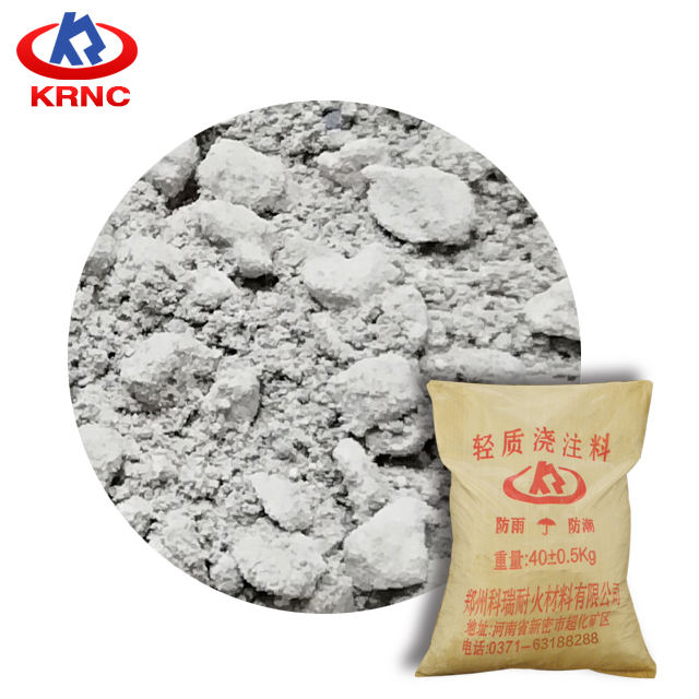 Factory high quality aluminum light weight refractory castable for lime kilns