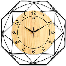 Best Selling Products 3D Wall Clock Metal Real Wooden Decorative Items For Home