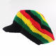 Popular Factory Wholesale Custom Knitted Peaked Hat Winter Beanie Jamaica Knitted Rasta Hat