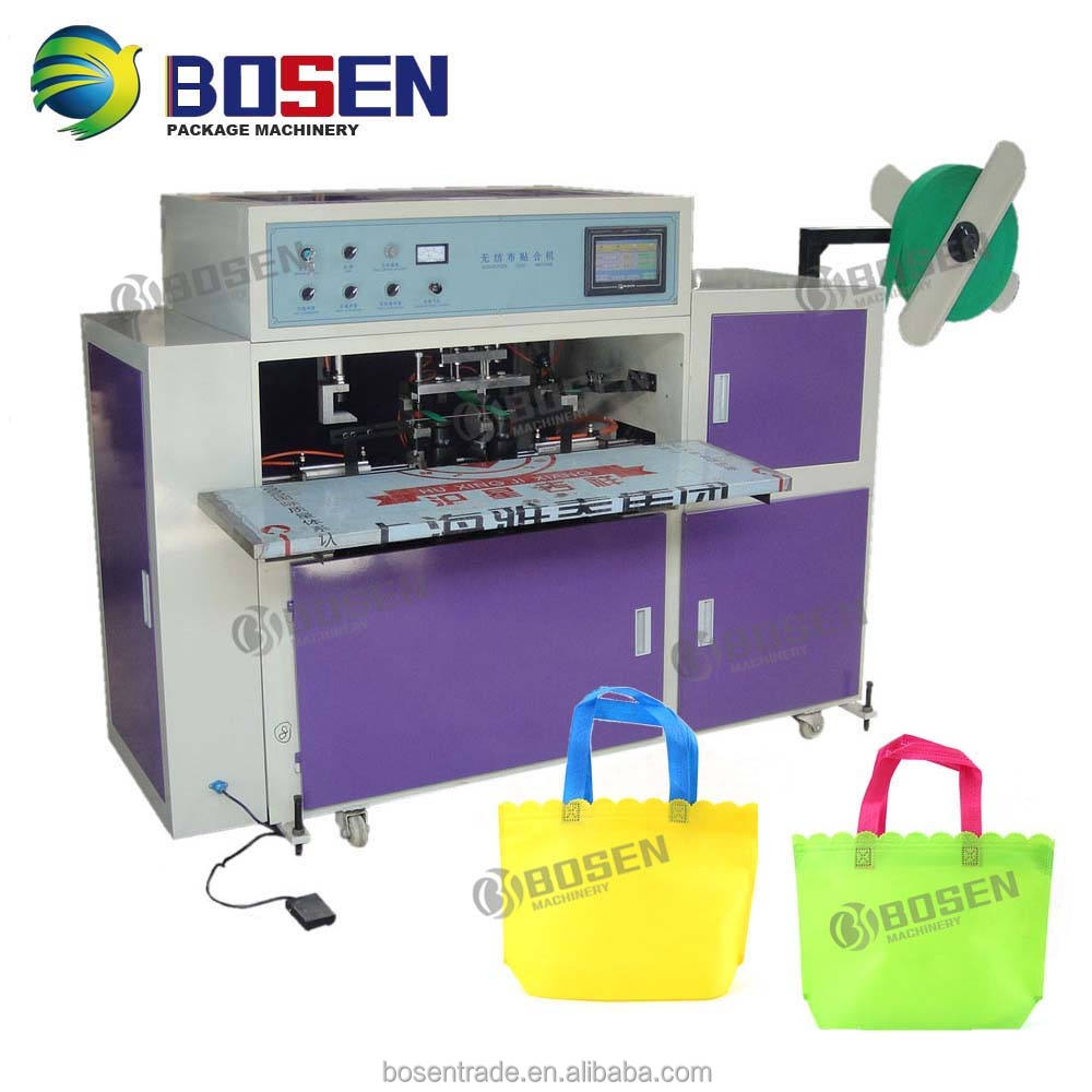 AUTOMATIC NON WOVEN HANDLE LOOP WELDING SEALING BAG MAKING MACHINE