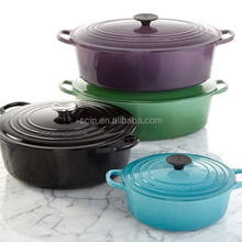 Latest technology enamel cast iron pot export to USA
